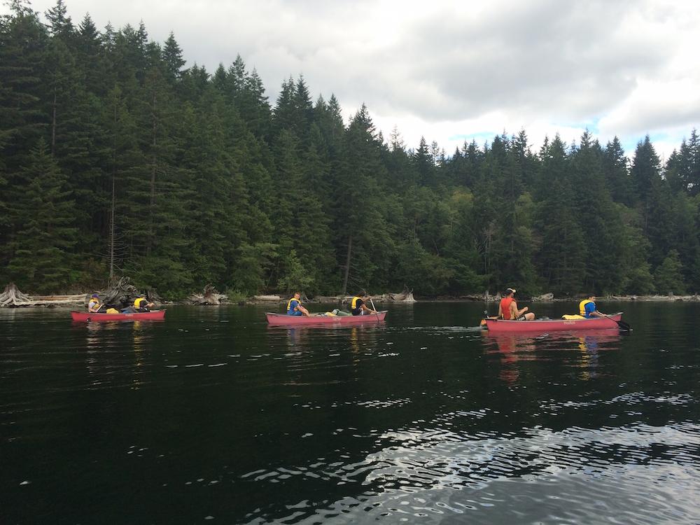 On a canoe trip