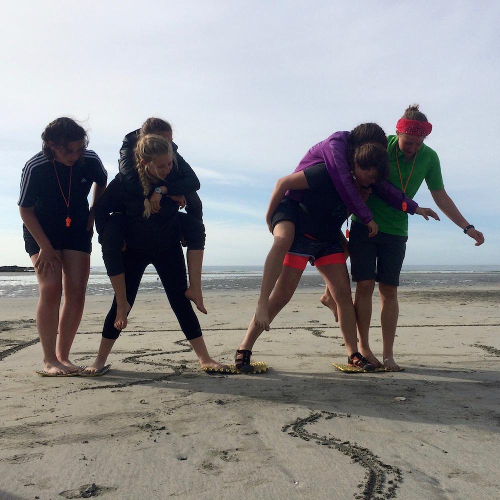 Leadership games on the beach